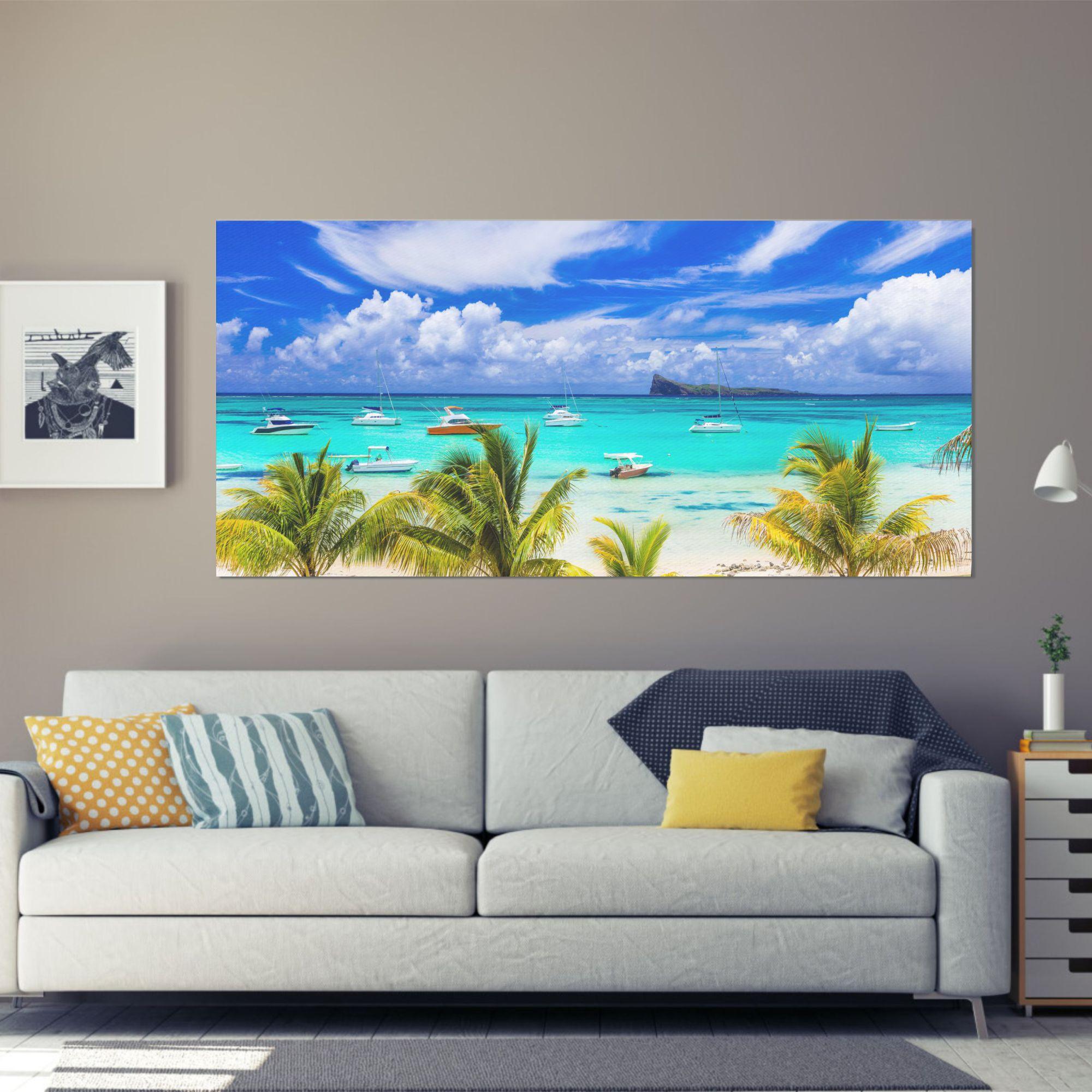 beach spree wall art canvas print