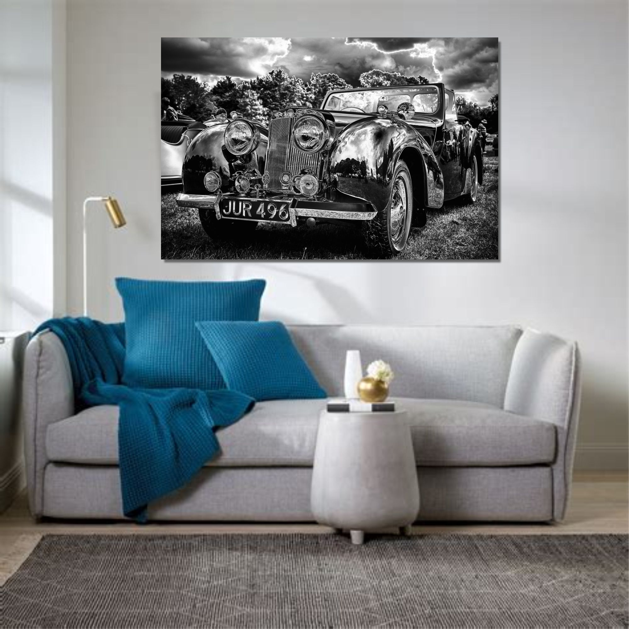 Wall Art Canvas Prints.Vintage Cab Wall Art Canvas Print