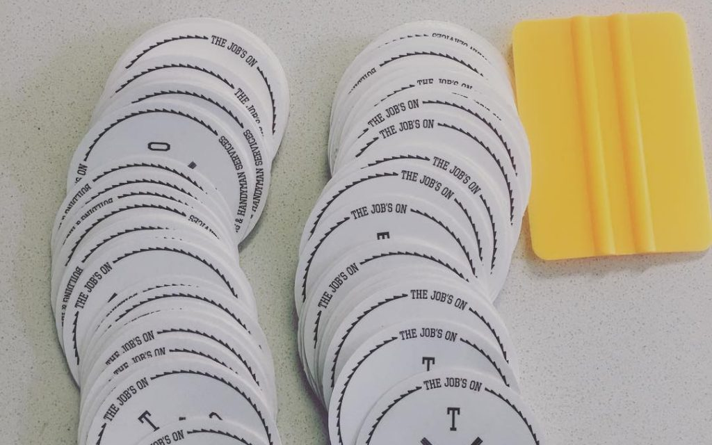 Get bumper stickers for your promotions, events and giveaways. These stickers are waterproof, UV and scratch resistant.