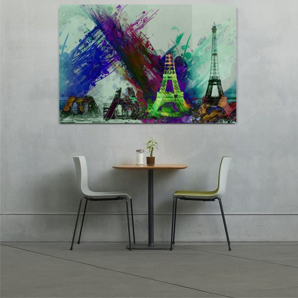Eiffel tower wall art canvas print