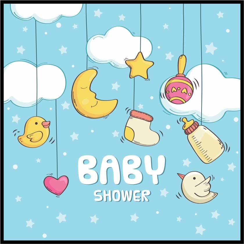 baby shower poster print