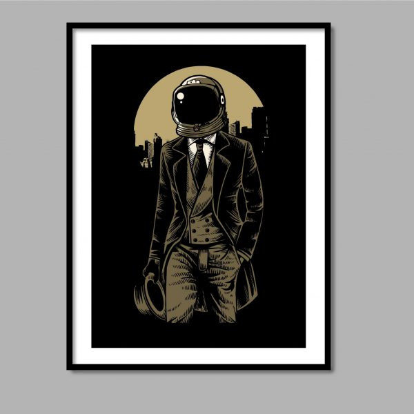 Classic astronaut Wall Art Canvas Print