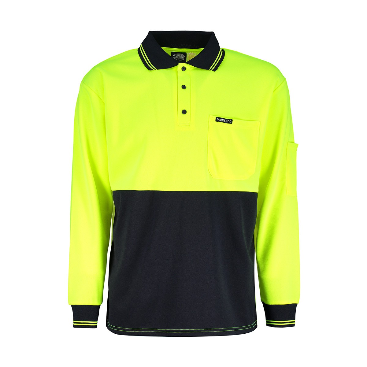 custom long sleeve yellow fluro