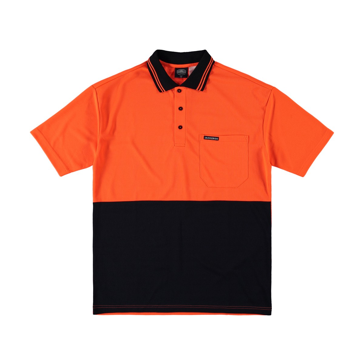 custom short sleeve orange fluro