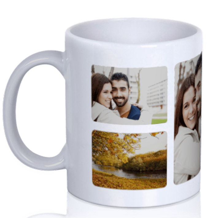 Personalize a photo mug