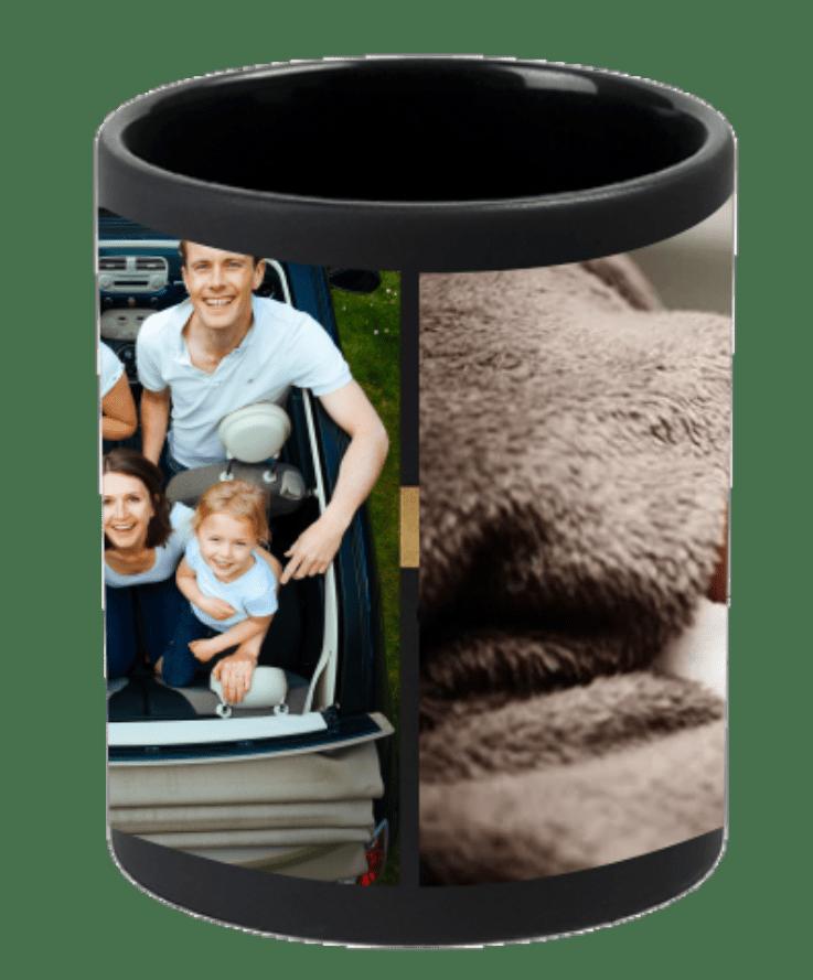 collage matte satin mug
